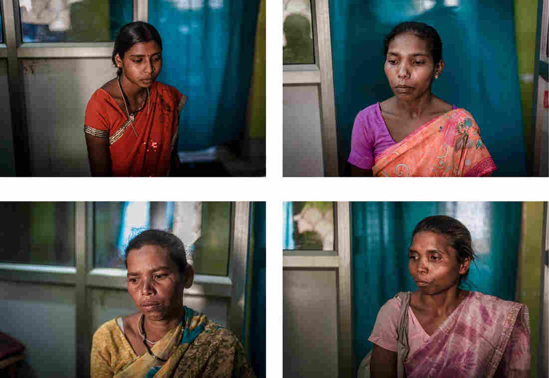 Clockwise from top left: Neetu Devi, 20, Palo Khoya, 26, Maiyam Purti, 30, Seteng Horo, 35.