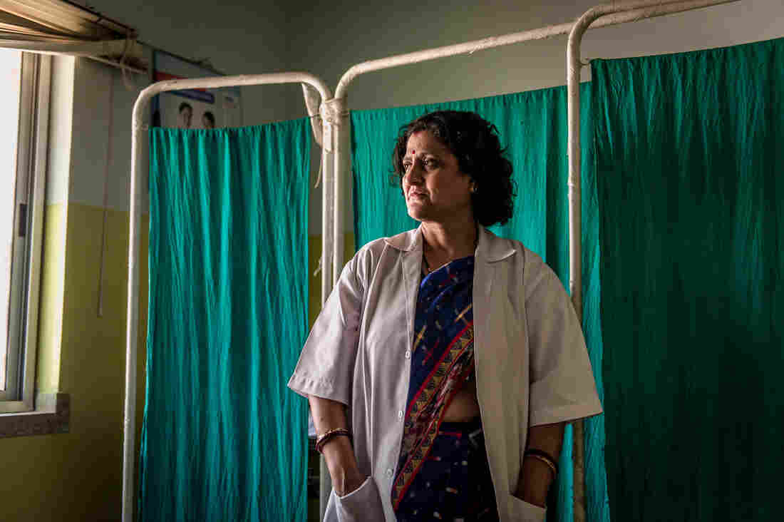 Dr. Simmi Mahesh is the main doctor at the clinic, which opened four years ago. It now reaches out to 100 villages, up from 77.