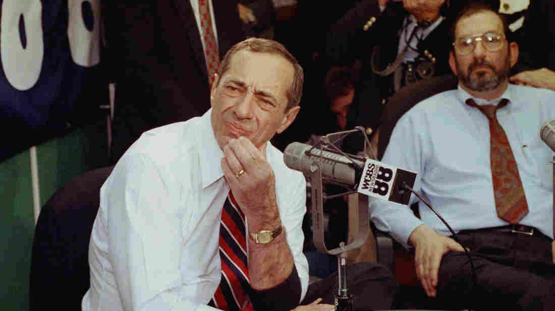 New York Gov. Mario Cuomo, appearing on a live call-in radio show in New York, Nov. 14, 1991, said he wouldn't be able to make a decision on his presidential candidacy until he had solved problems with the state budget. The standoff with the Legislature ultimately ran beyond the New Hampshire primary, preventing Cuomo from launching a bid.