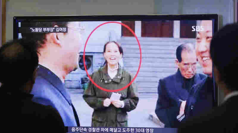 People watch a TV news program showing Kim Yo Jong, North Korean leader Kim Jong Un's younger sister, at Seoul Railway Station in Seoul, South Korea, in November. She has reportedly married the son of the ruling party secretary.