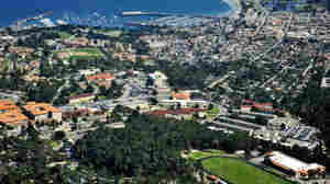 An aerial view from March, 2014, shows the Presidio of Monterey located in Monterey, Calif. The Army base, which is home to the Defense Language Institute, has partnered with the city in an effort to curb costs.