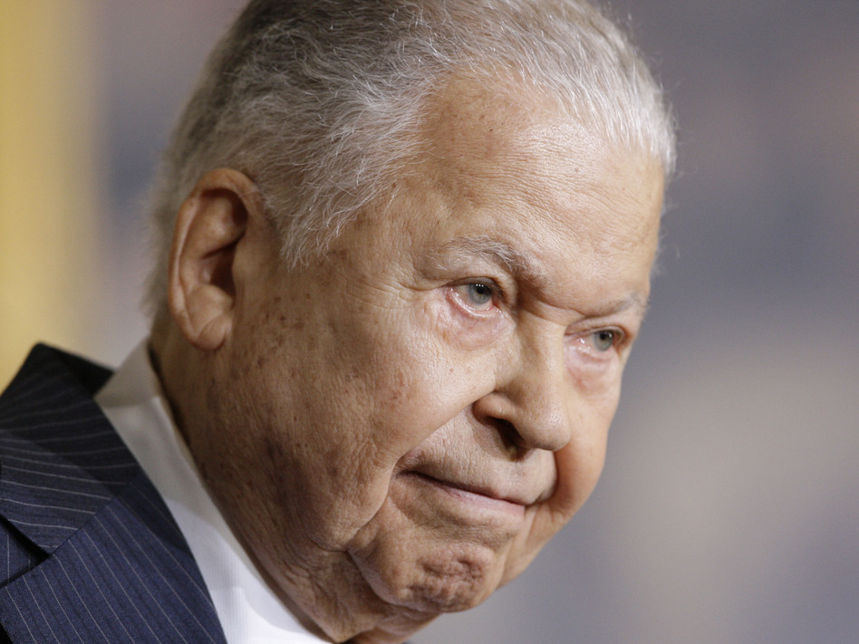 Former Massachusetts Sen. Edward William Brooke speaks in the Rotunda on Capitol Hill in Washington, in 2009 during a ceremony where he received the Congressional Gold Medal. Brooke died on Saturday at age 95. (Alex Brandon/AP)