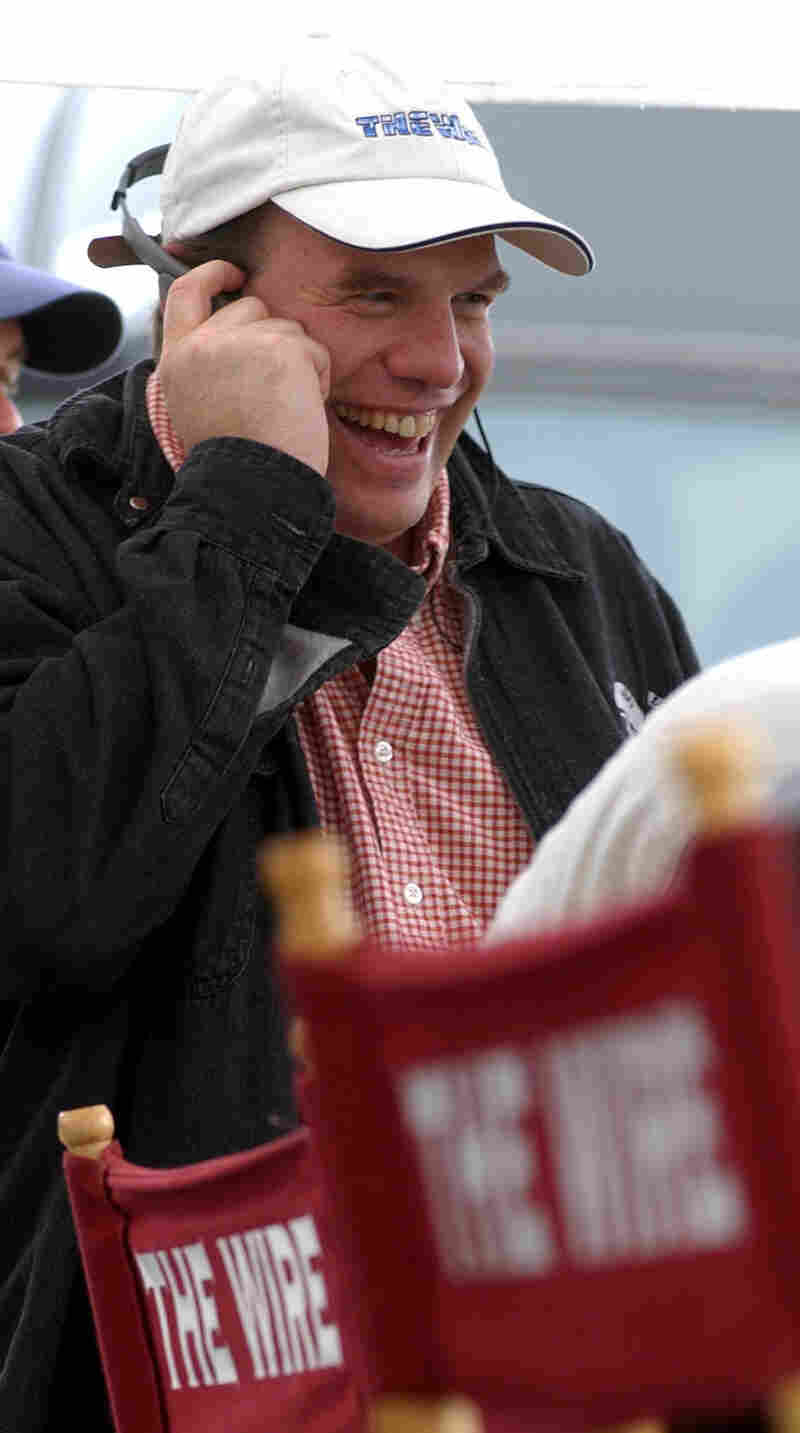 David Simon, creator of The Wire, on the set in 2002.