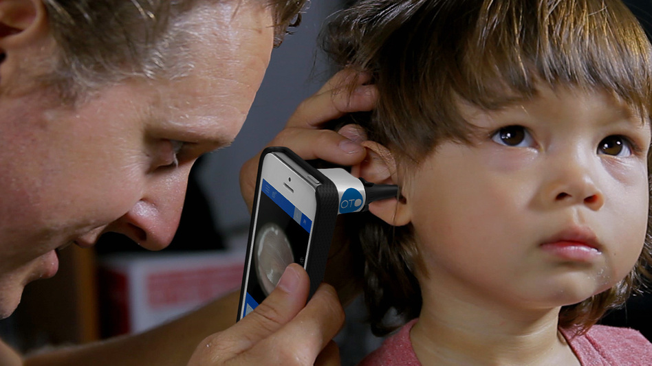 The San Francisco-based startup CellScope has built a tool to do ear exams at home, instead of going to the doctor. (Cellscope)