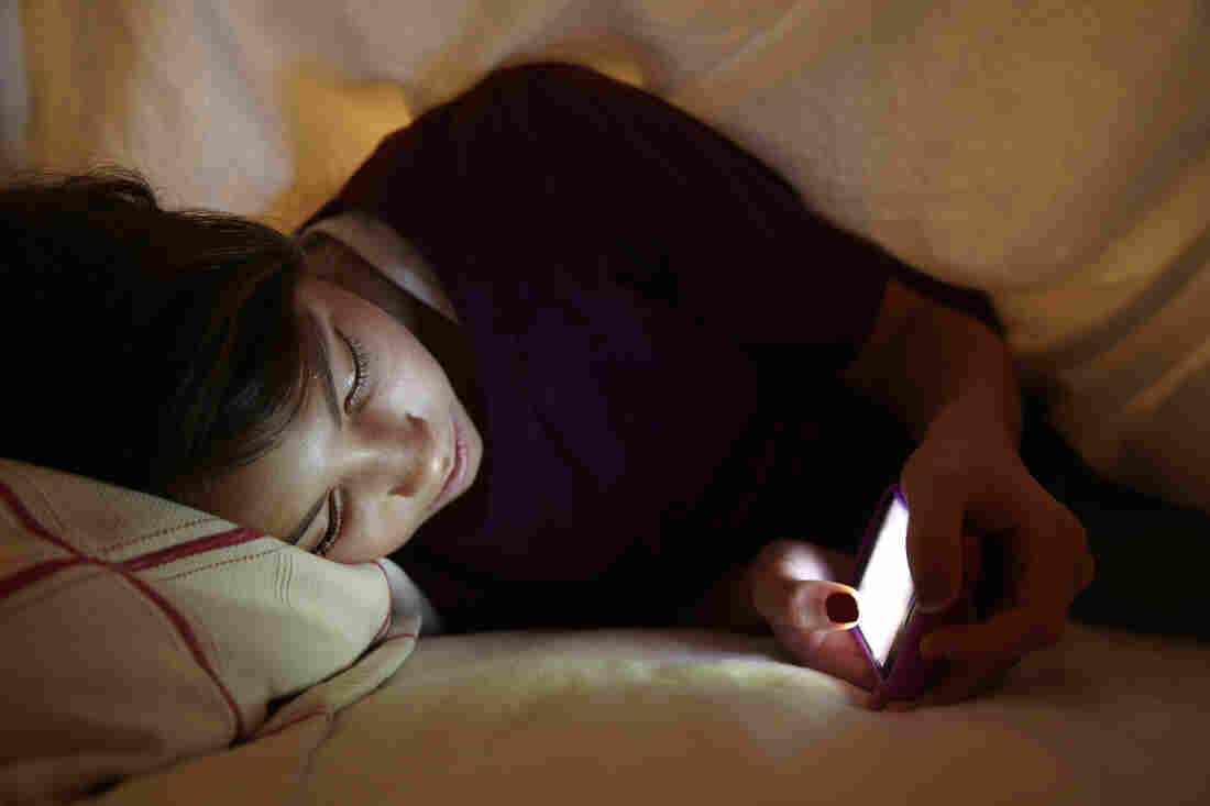 Most of the children in this study said they slept with a smartphone or iPod.