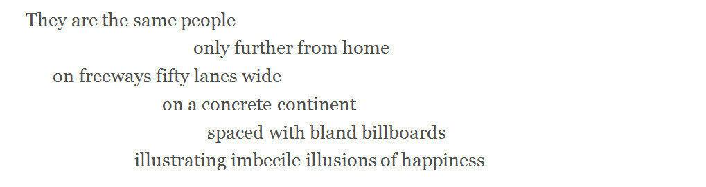 Lawrence Ferlinghetti poem