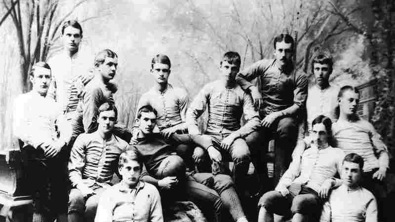 The Yale football team in an undated photo. Commentator Frank Deford finds it curious that a sport as brutal as football became popular among the academic elite.