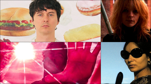 Clockwise from upper left: Panda Bear, Jessica Pratt, cover art for Red Baraat, Ian Parton of The Go! Team (Courtesy of the artists)