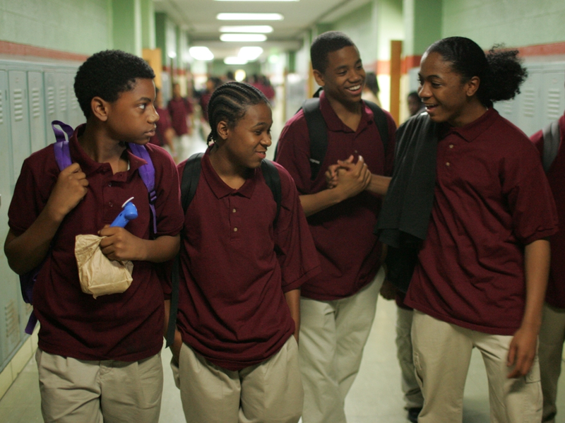 Actors Jermaine Crawford, Maestro Harrell, Tristan Wilds and Julito McCullum portray Baltimore students in the show's fourth season.