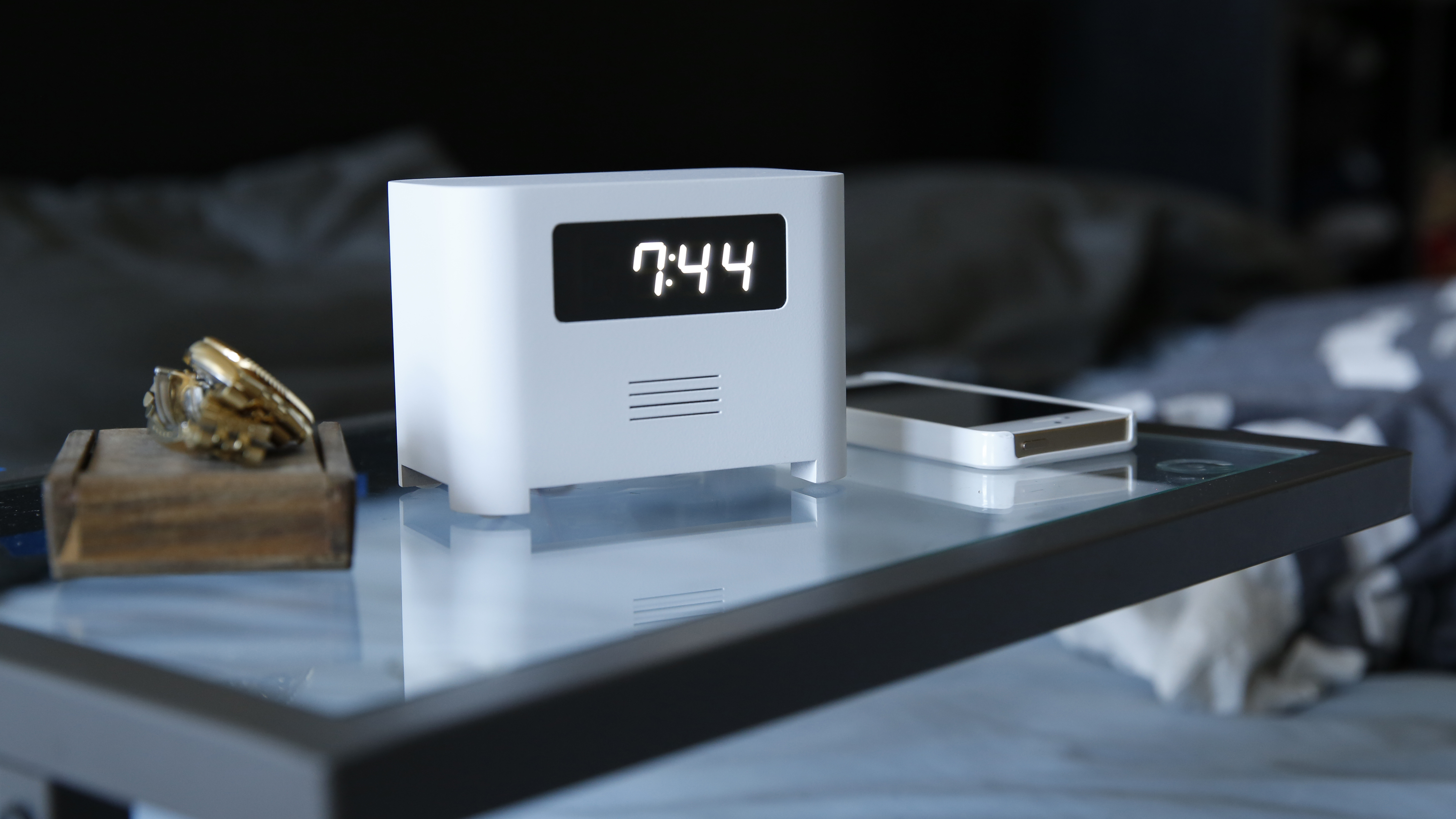 innovation an alarm clock that won 39 t take 39 snooze 39 for an answer ncpr news. Black Bedroom Furniture Sets. Home Design Ideas