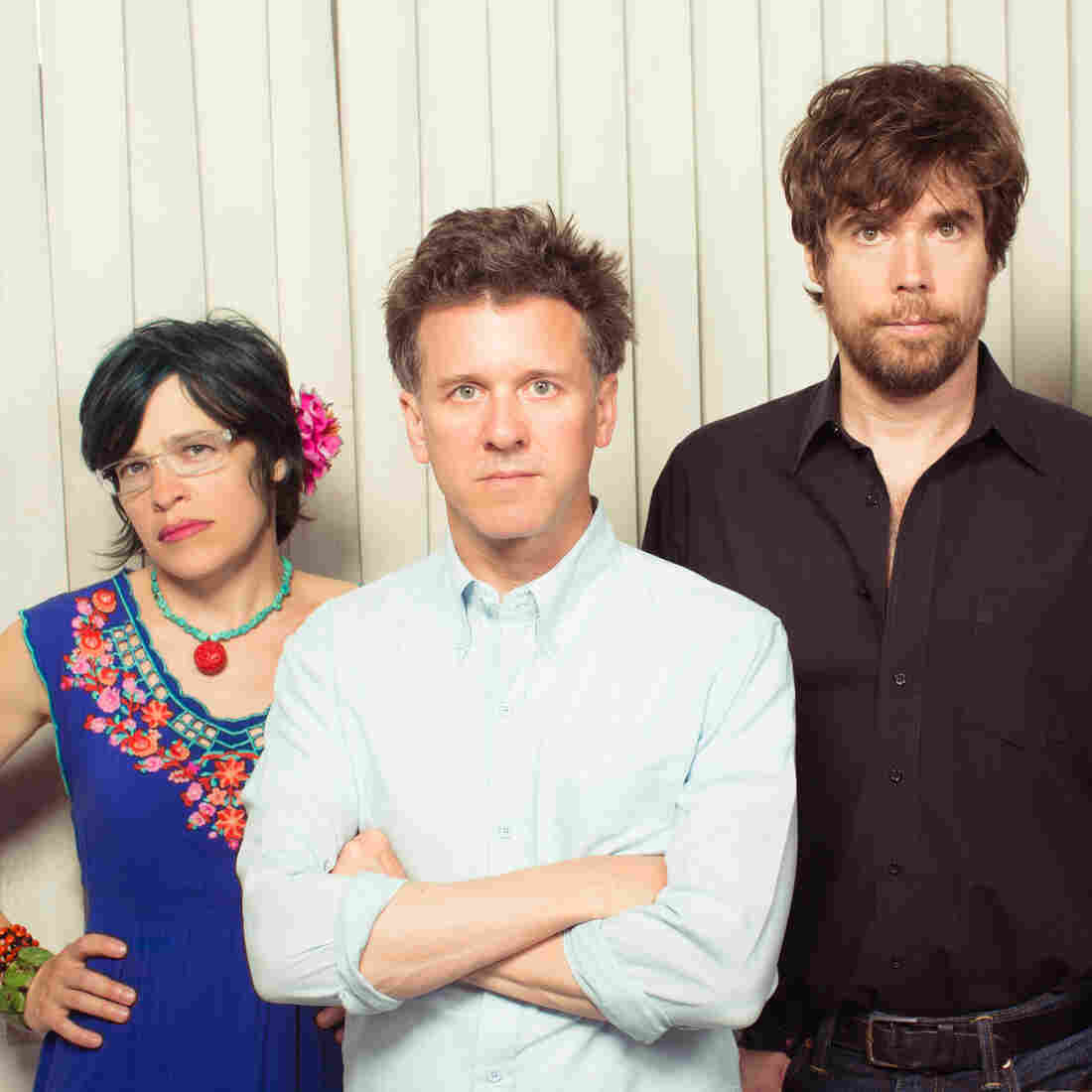 Superchunk bandmates Laura Ballance (left) and Mac McCaughan (second from left) founded Merge Records in 1989.