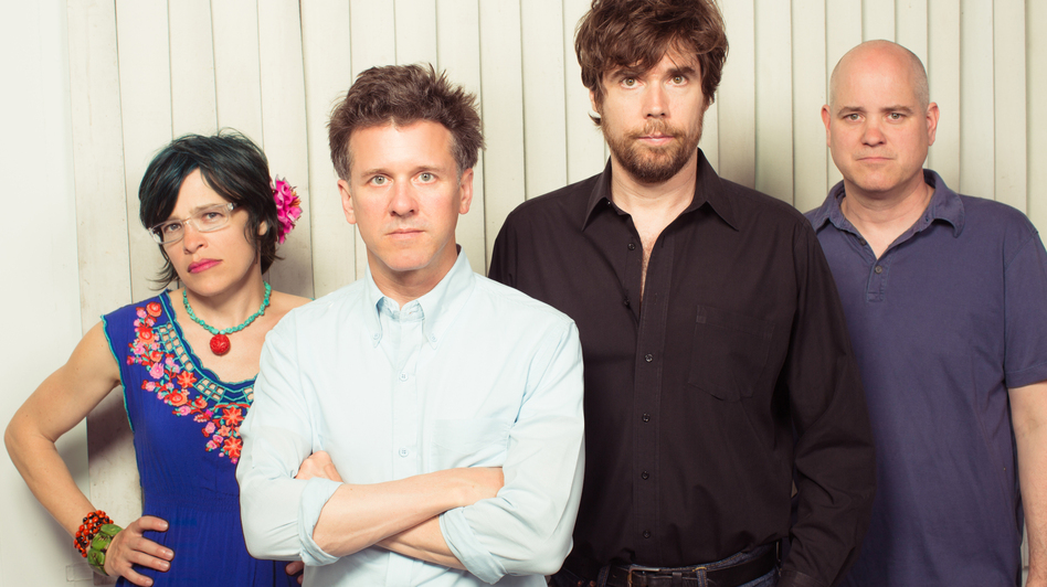Superchunk bandmates Laura Ballance (left) and Mac McCaughan (second from left) founded Merge Records in 1989. (Courtesy of the artist)