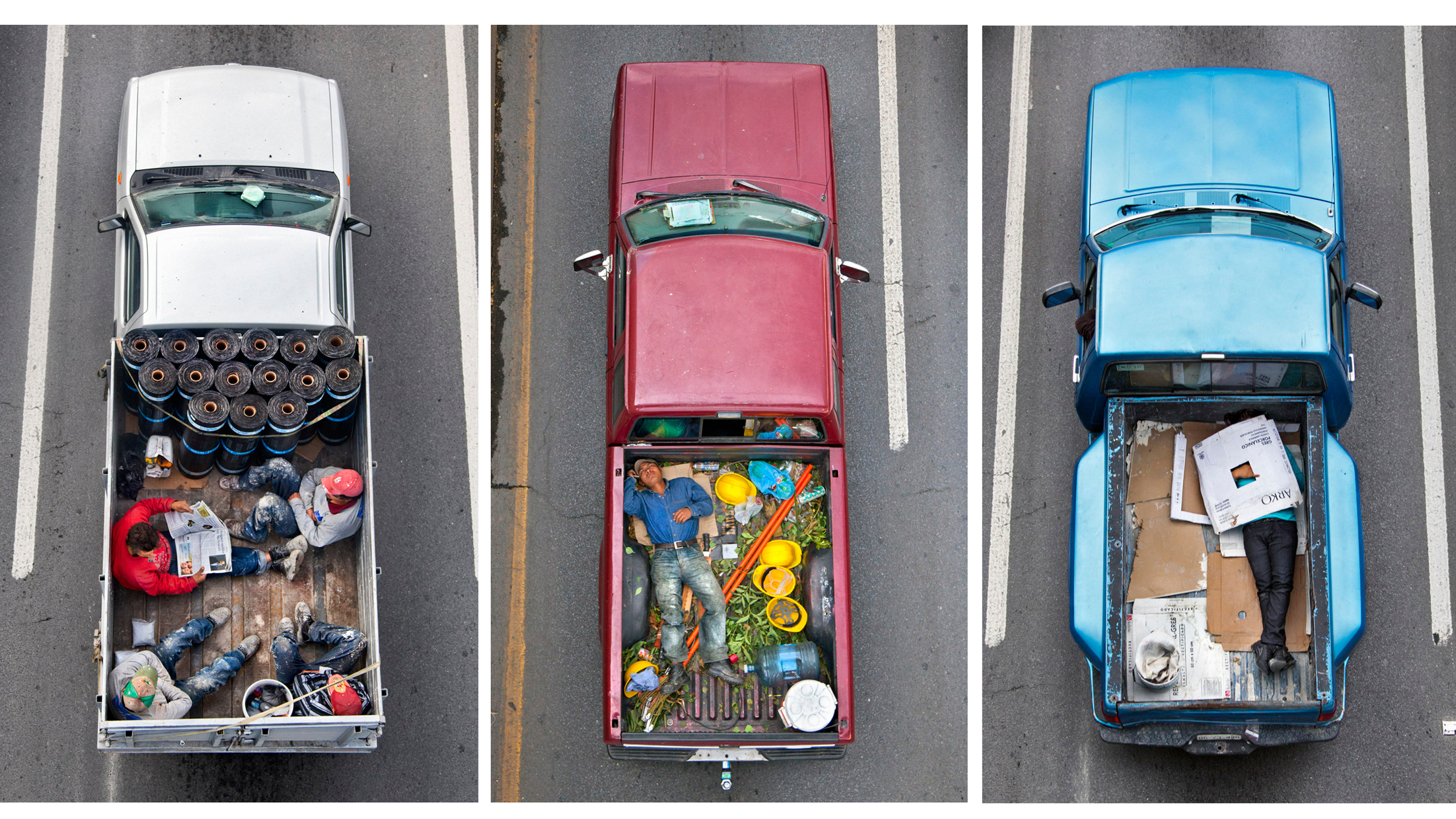 Mexican Carpoolers: A Photographer's View Of Truck Bed Commuters