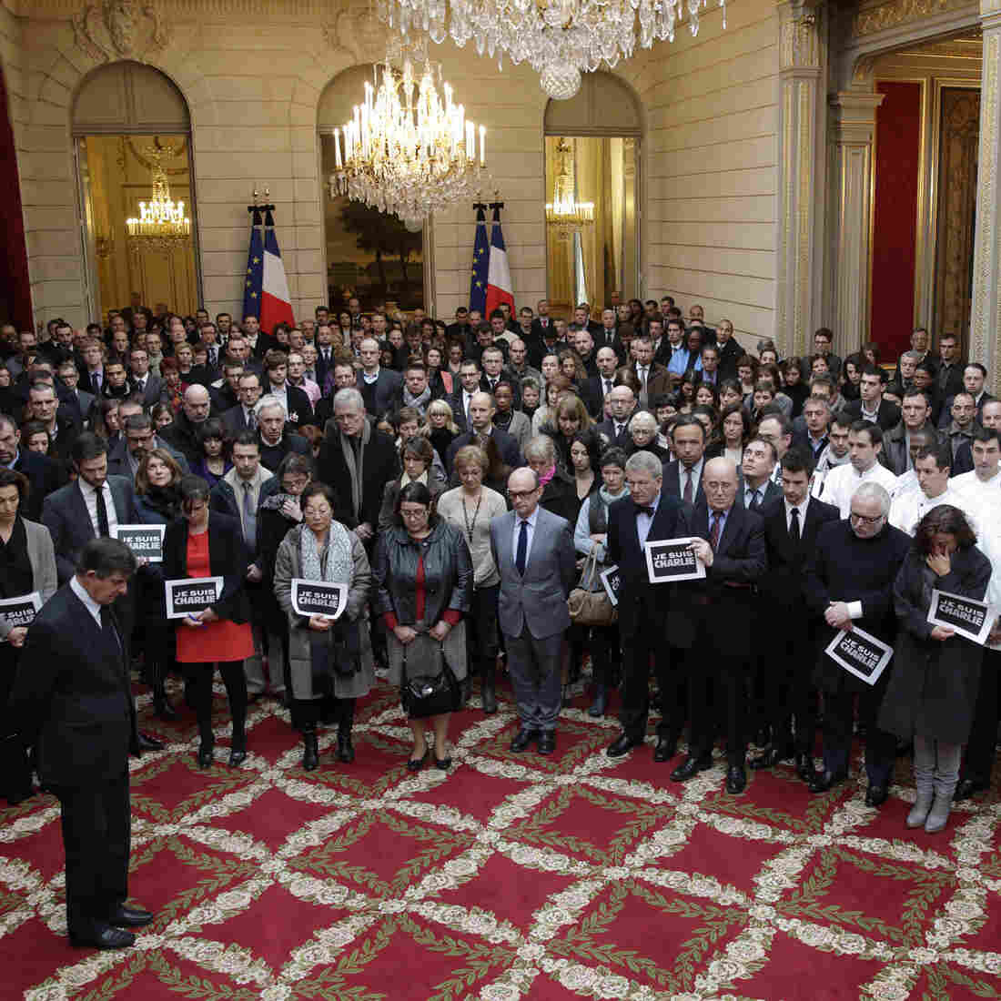 France Observes Moment Of Silence For 'Charlie Hebdo' Victims