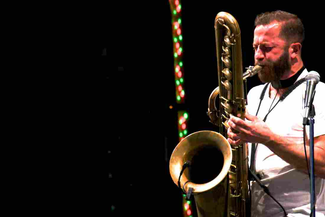 Colin Stetson Kennedy Center Millennium Stage Washington, D.C. Photo by Bob Boilen for NPR Music