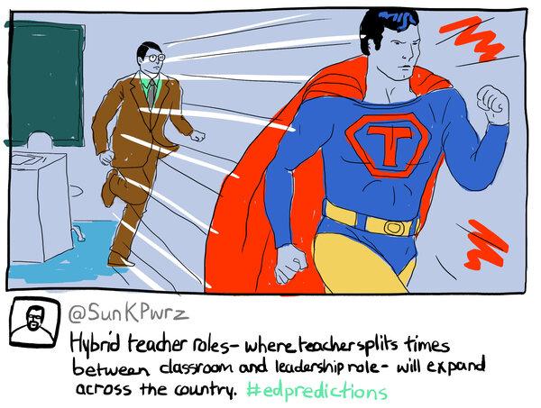Hybrid teacher roles