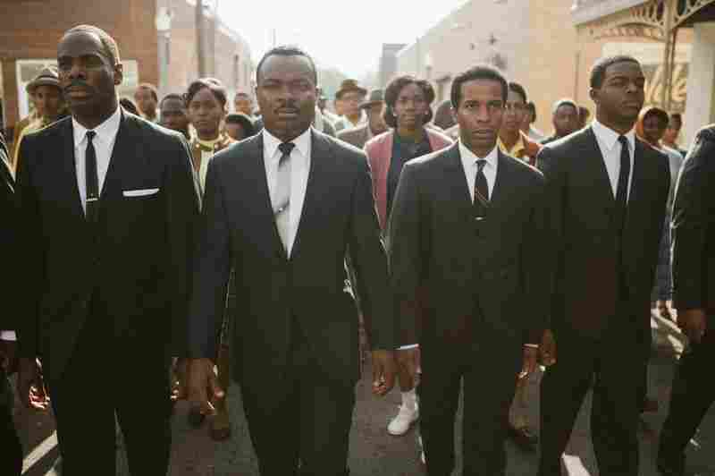 Selma portrays a period of history when Martin Luther King Jr. led marches to demand rights for black people who were systematically prevented from registering to vote in the South. Coleman Domingo (from left) plays Ralph Abernathy, David Oyelowo plays Dr. Martin Luther King Jr., Andre Holland plays Andrew Young and Stephan James plays John Lewis.