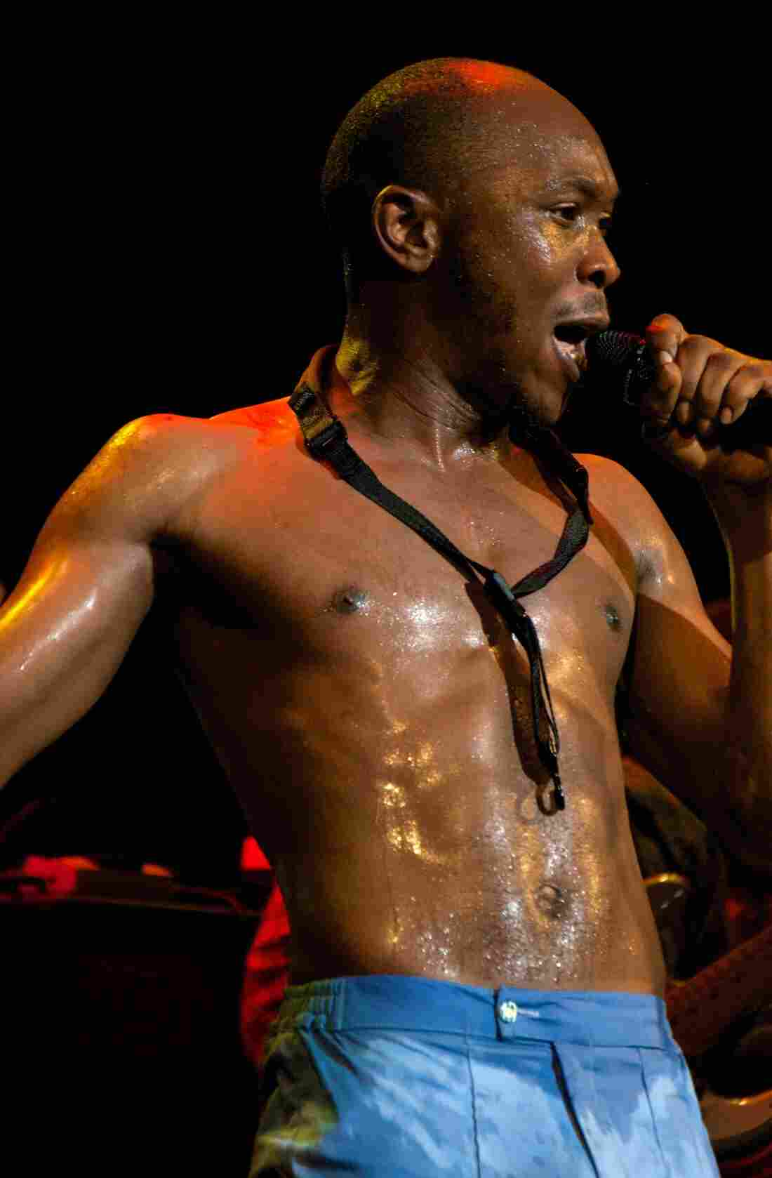 Seun Kuti Howard Theatre Washington, D.C. Photo by Bob Boilen for NPR Music