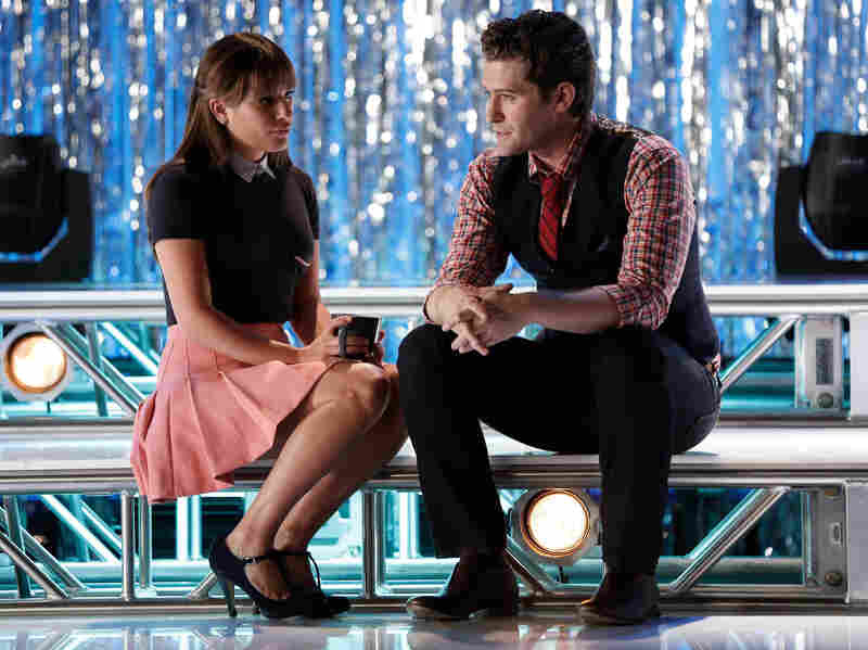 Rachel (Lea Michele) seeks advice from Will (Matthew Morrison) in the first part of the two-hour Glee season premiere, airing Friday night.