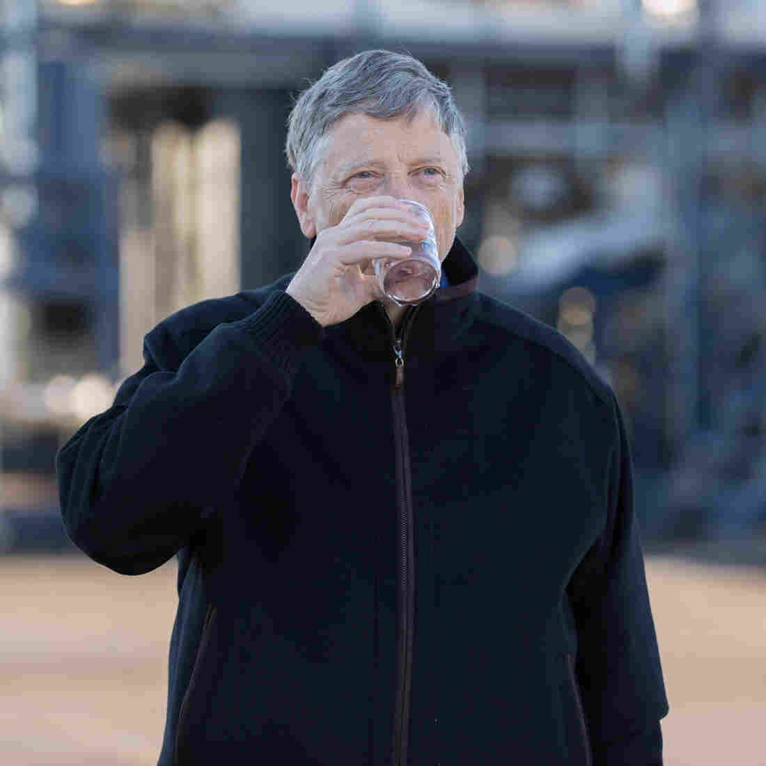 Bill Gates Raises A Glass To (And Of) Water Made From Poop