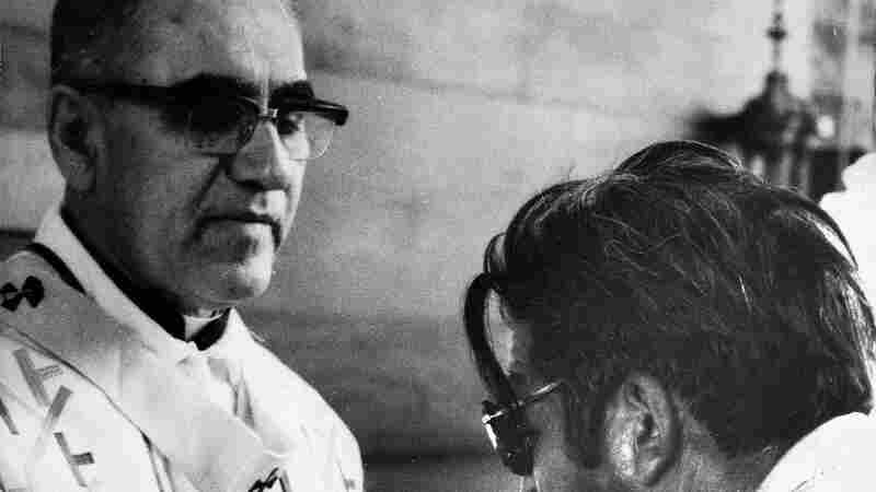 Archbishop Oscar Romero offers the host wafer during Mass in San Salvador in January 1980, four months before he was assassinated.
