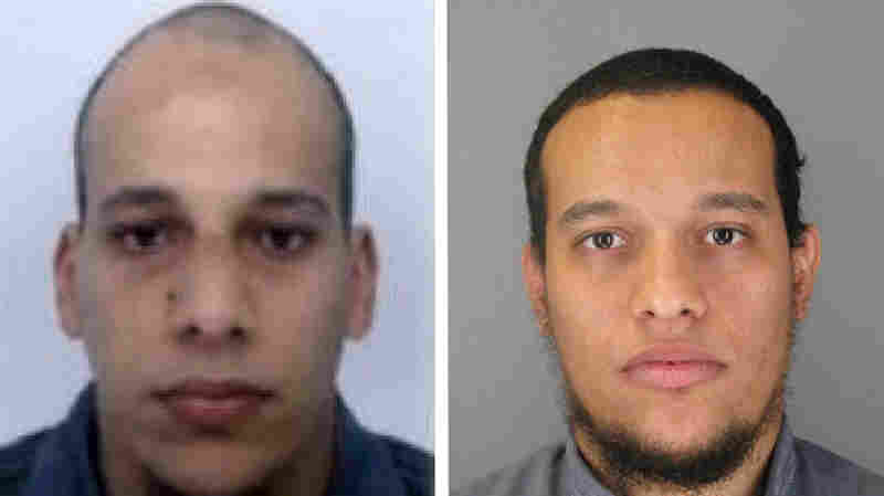 This photo provided by The Paris Police Prefecture Thursday, Jan.8, 2015 shows the suspects Cherif, left, and Said Kouachi.