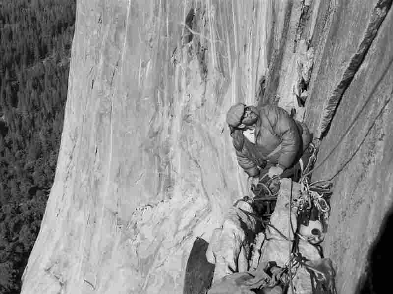 Royal Robbins climbs El Capitan's North American Wall in Yosemite National Park in 1964. Robbins is a climbing purist whose ideas helped shape the sport.