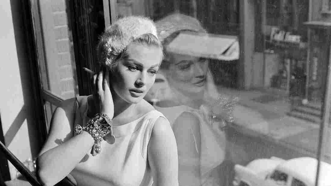 Anita Ekberg in a 1956 photo taken during rehearsals for a guest appearance on the Frankie Laine Time.