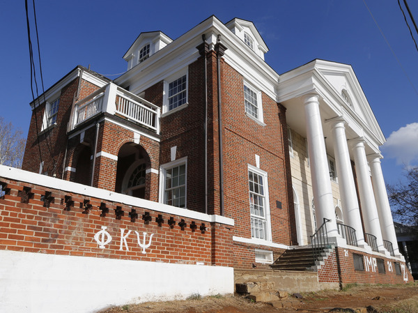 The Phi Kappa Psi fraternity house at the University of Virginia in Charlottesville, Va. The fraternity was at the center of a controversial Rolling Stone article describing an alleged gang rape at the school.