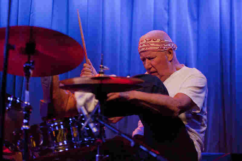 Drummer Han Bennink gigged twice on Friday night, performing in duet with pianist Uri Caine and later joining the ICP Orchestra.