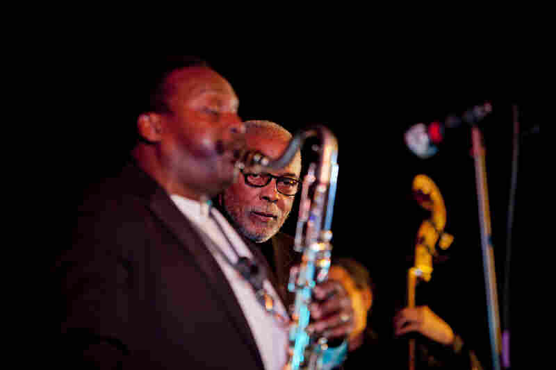 Another of David Murray's three Winter Jazzfest performances featured a four-man clarinet choir. Murray played bass clarinet with Hamiet Bluiett (pictured), David Krakauer and Don Byron rounding out the reeds.