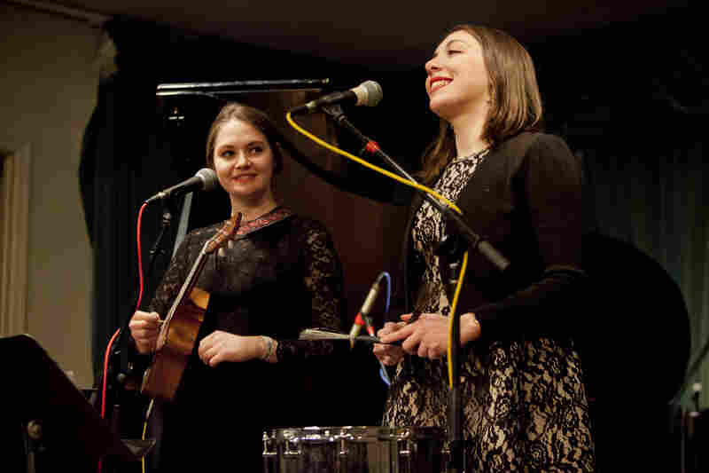 "The Winter Jazzfest introduced a stage dedicated to ""hot"" or early jazz this year. On the second night, The Ladybugs — led by vocalist Martina DaSilva (right), and featuring Kate Davis in harmony — was first to perform there."