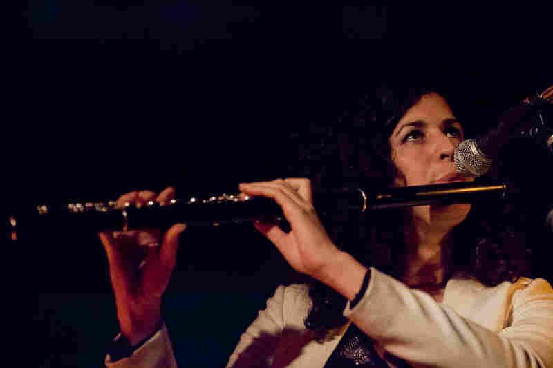 Flutist Hadar Noiberg led her trio at Winter Jazzfest.