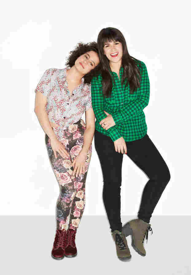 Ilana Glazer (left) and Abbi Jacobson met through the improv comedy group the Upright Citizens Brigade, which was co-founded by comedian Amy Poehler.