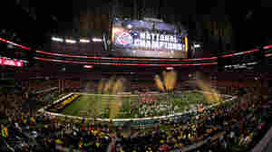 The first-ever college football playoff championship turned in record ratings, attracting an average of 33.4 million viewers.