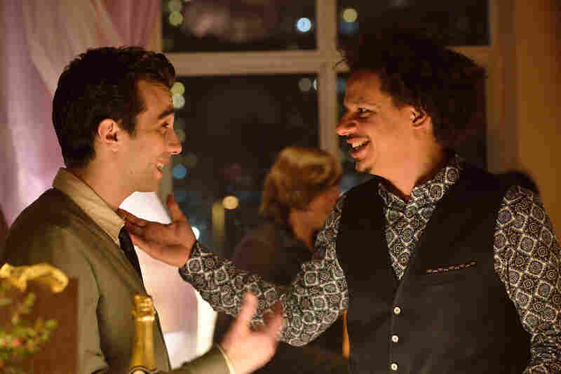 Man Seeking Woman is a cross between an early Woody Allen comedy and a very edgy late-night comedy sketch. Jay Baruchel (left) plays Josh; Eric Andre plays Mike.