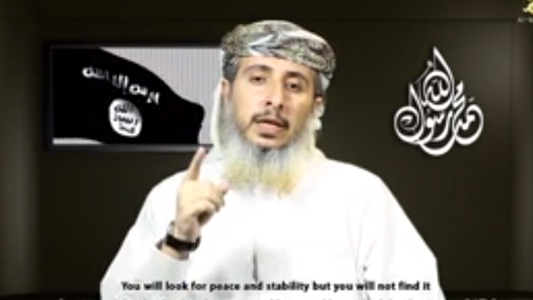 In a YouTube video released by al-Qaida in the Arabian Peninsula, Nasr al-Ansi, a commander, takes responsibility for the attack on a satirical magazine in Paris.