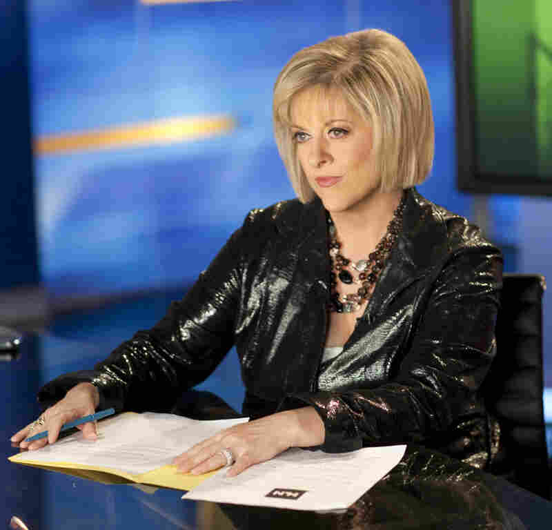 The movie Gone Girl fictionalizes and satirizes cable news star Nancy Grace (above). Grace, host of a true crimes and current affairs show on HLN, says she was flattered.