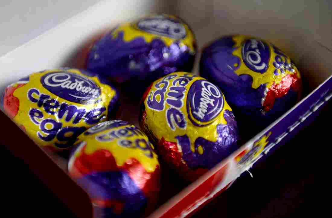 """A box of five Cadbury Creme Eggs in London. The confectioner's decision to change the chocolate used to make the outer shell has left many in the U.K. in """"shellshock."""""""