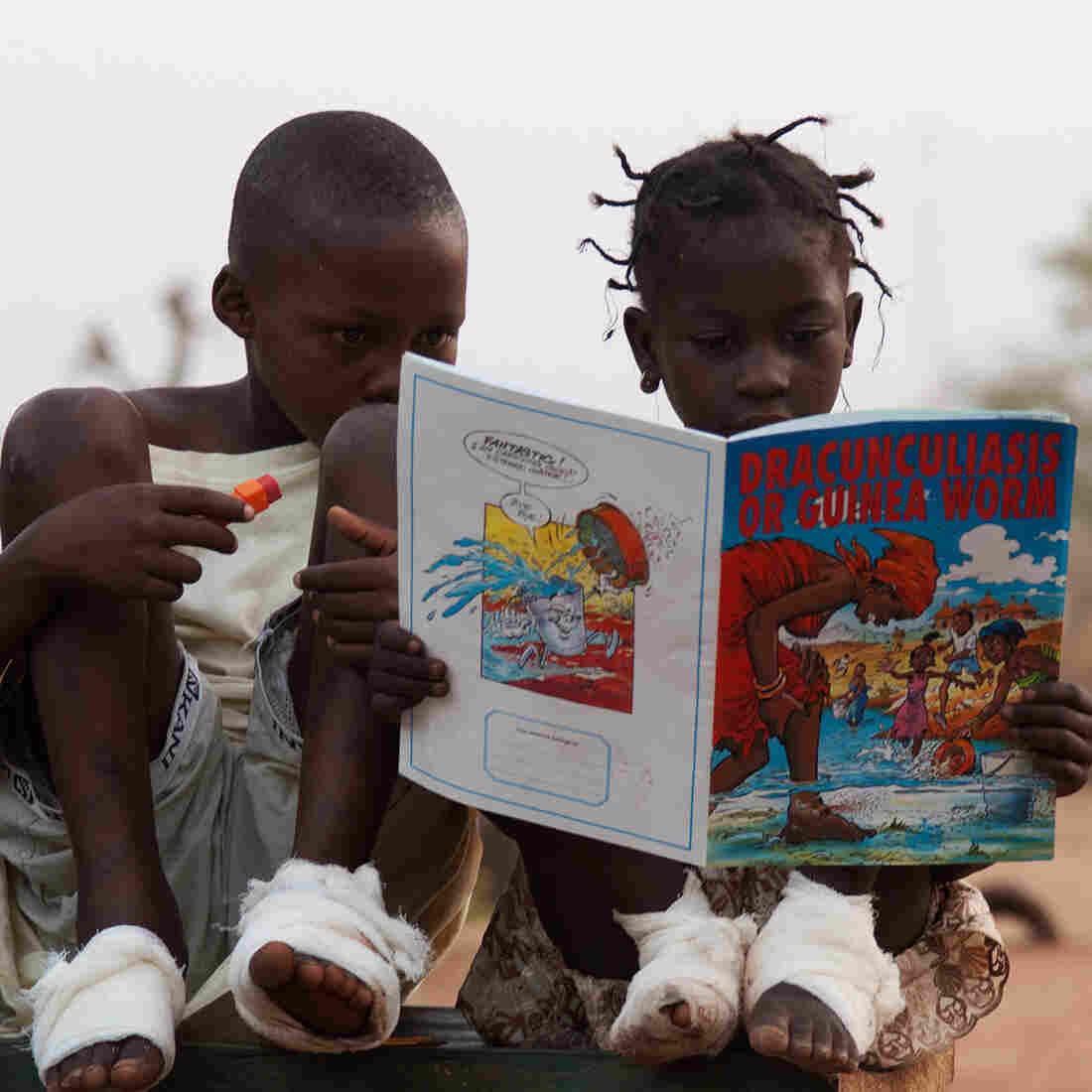 A comic book captures the attention