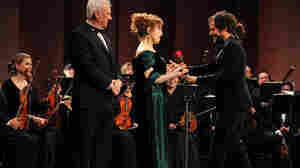 Gael García Bernal (right), Bernadette Peters and Malcolm McDowell star in the classical music comedy series Mozart in the Jungle.