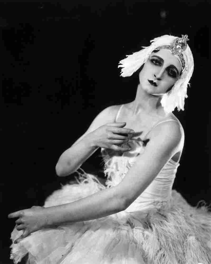Russian ballerina Alexandra Danilova poses in her costume from a 1926 production of the ballet.