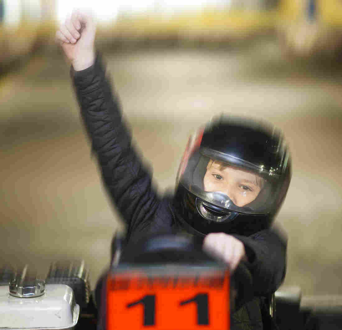 01 Jul 2013 --- Boy driving kart --- Image by � zerocreatives/Westend61/Corbis