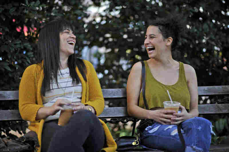 On Broad City, Abbi Jacobson (left) and Ilana Glazer play two single, 20-somethings living in New York City with dead-end jobs. They spend a lot of time hanging out, smoking weed and making each other laugh.