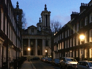 London is still home to 1,500 gas lamps — dating back to the early 1800s — such as these in Westminster's Smith Square.