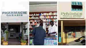 A sampling of the 1,000-plus pharmacies in Senegal.