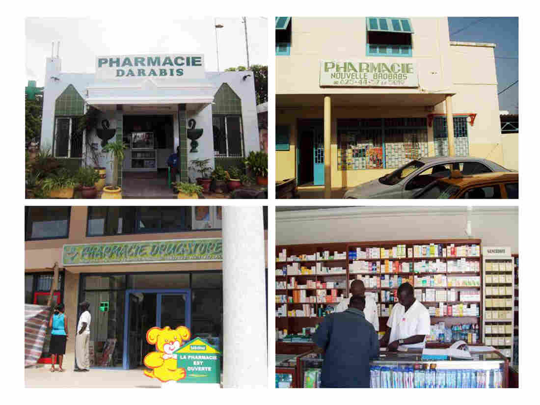 In Dakar, Senegal, privately owned pharmacies dot the urban streetscape.
