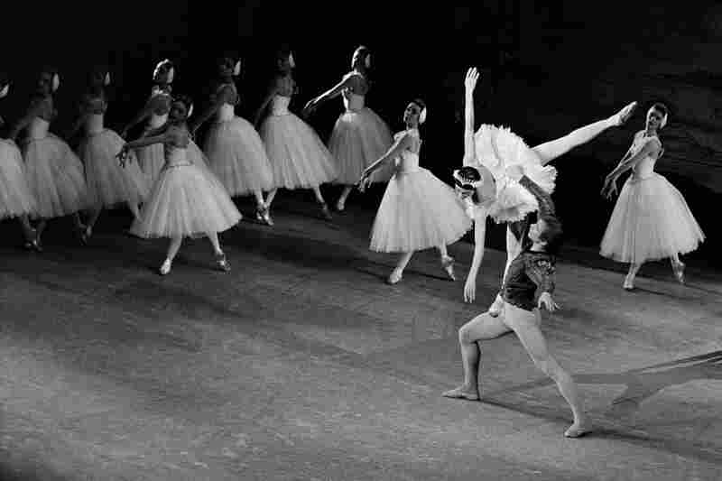 Rudolf Nureyev and Margot Fonteyn star in a 1963 production at Champs-Elysees Theater in Paris.