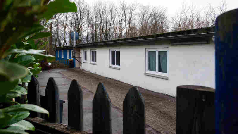 The warden's barracks at a satellite camp of the Buchenwald concentration camp in Schwerte, Germany, on Jan. 13. According to media reports, the city has proposed housing around 20 refugees in buildings at the camp. The move has drawn protests in Germany.