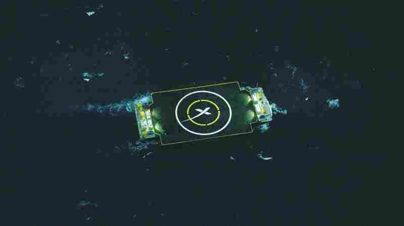 An image provided by SpaceX showing the barge that was used in an unsuccessful attempt to recover the Falcon 9 first stage.